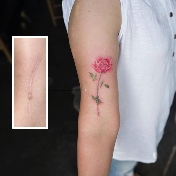 scars tattoos cover up 20 - 50 Incríveis tatuagens de encobrimento de cicatrizes