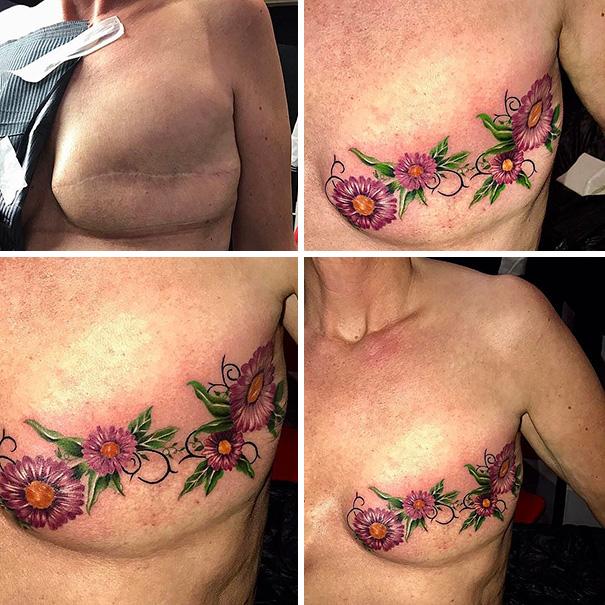 scars tattoos cover up 22 - 50 Incríveis tatuagens de encobrimento de cicatrizes