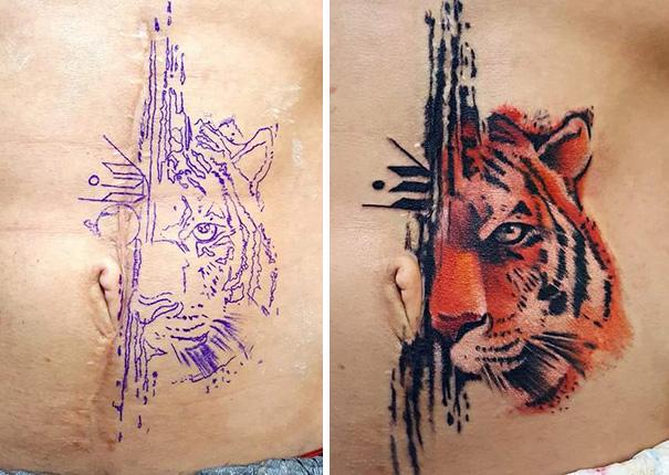 scars tattoos cover up 30 - 50 Incríveis tatuagens de encobrimento de cicatrizes