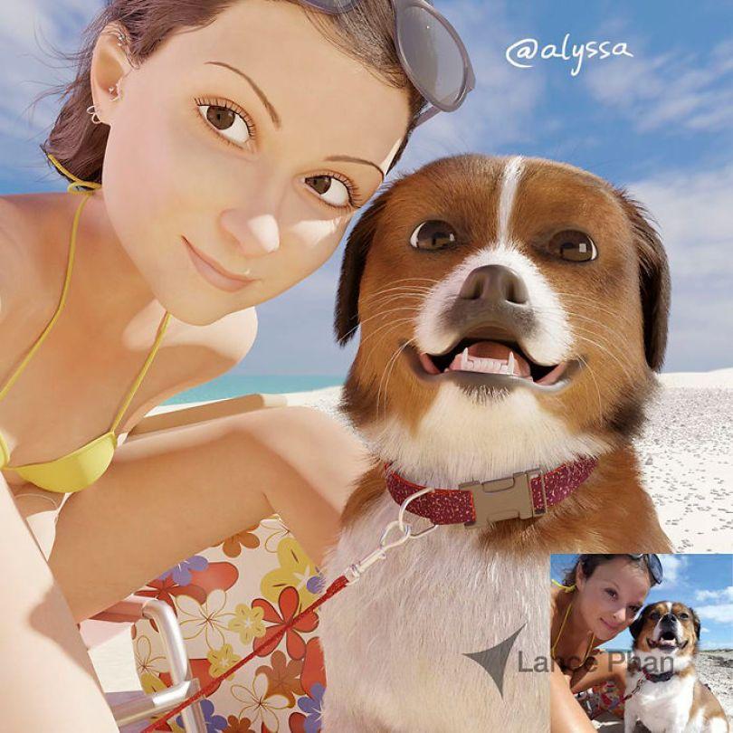 59b695d0644b4 artist transforms strangers 3d cartoons lance phan 14 59b23cafa1ad8  700 - Você gostaria de se tornar um personagem da Pixar?