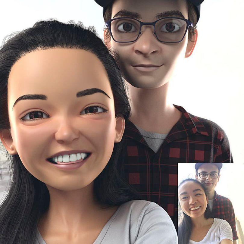 59b695d2a4e6d artist transforms strangers 3d cartoons lance phan 23 59b23cc6d4fb8  700 - Você gostaria de se tornar um personagem da Pixar?