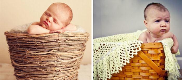 59e0b2821e94a baby photoshoot expectations vs reality pinterest fails 28 577fa9d93d27f  700 - Tirar foto de bebê não é nenhum pouco fácil