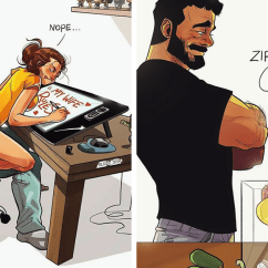 Big And Tall Computer Chair White Plastic Folding Chairs Wedding Artist Hilariously Illustrates Everyday Life With His Wife In 21 New Comics