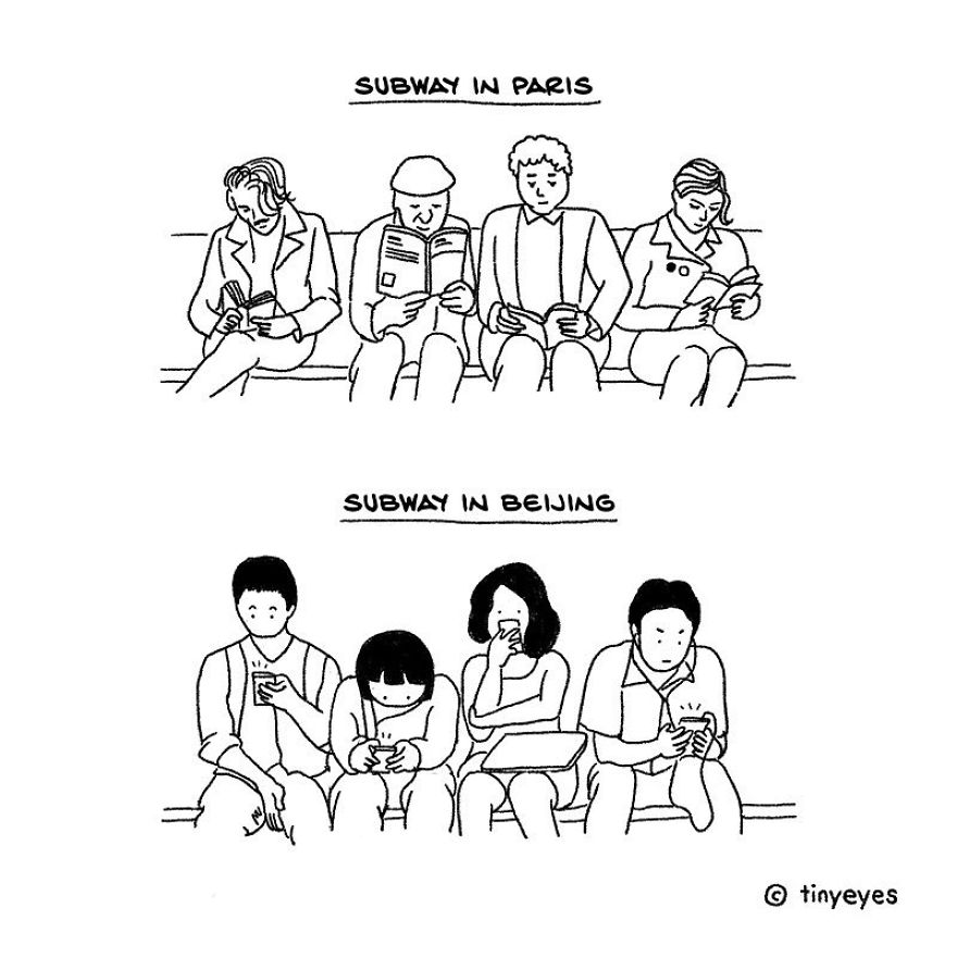 Artist Illustrates The Difference Between Chinese And