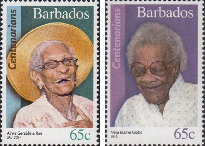 stamps-barbados10 Portraits Of 100-Year-Old Citizens Of Barbados Were Printed On Postal Stamps To Celebrate Their Impressive Anniversaries Random