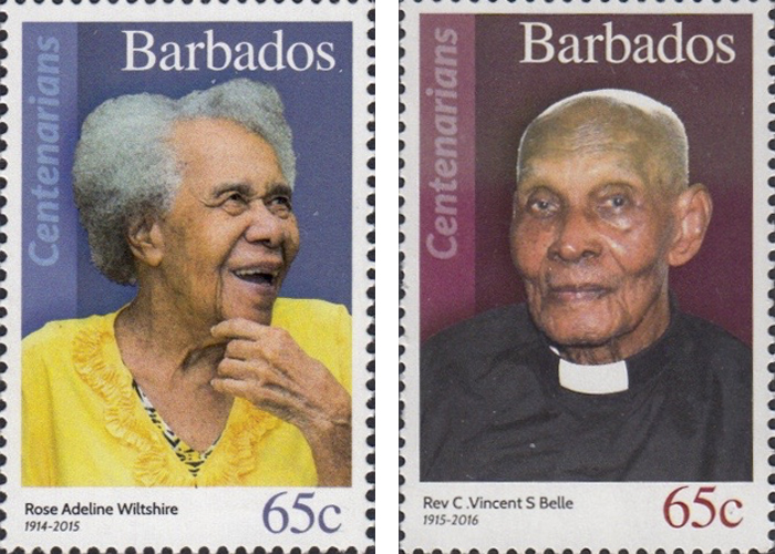 stamps-barbados11 Portraits Of 100-Year-Old Citizens Of Barbados Were Printed On Postal Stamps To Celebrate Their Impressive Anniversaries Random
