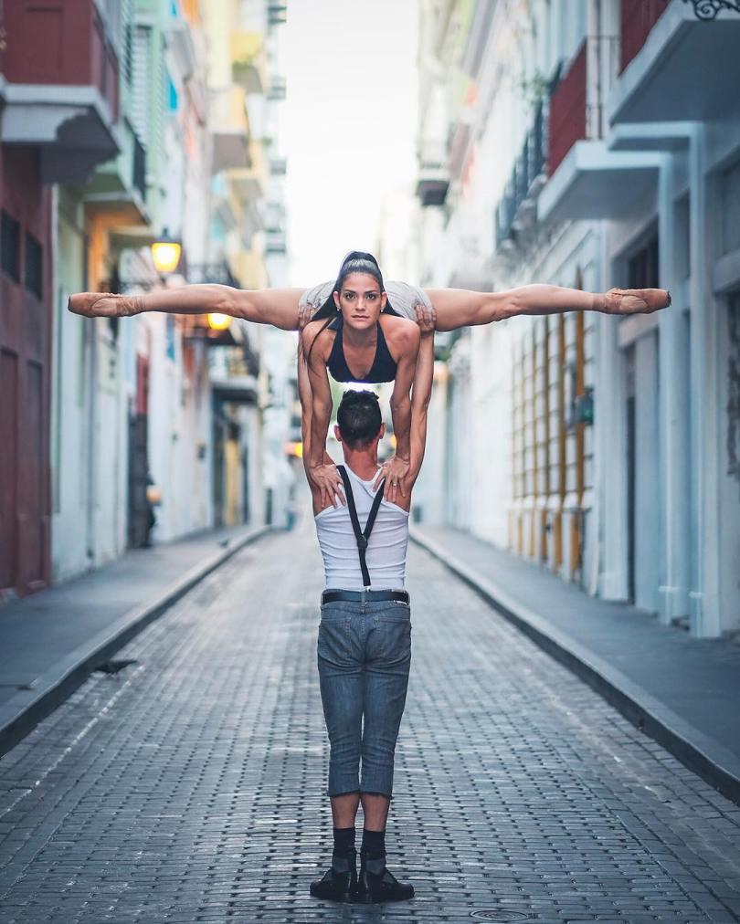 omarzrobles 12424596 757306267736536 873950566 n 2 - Dançarinos de balé praticam seus movimentos nas ruas para foto