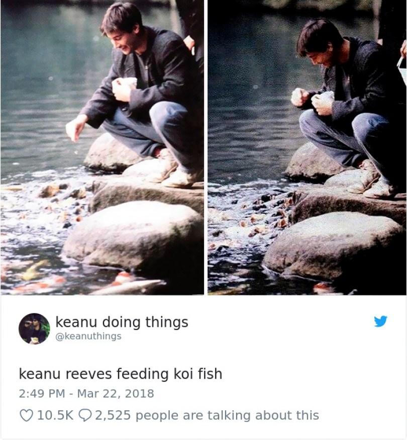 5abe1c069610d 976833342120308737 1 png  700 5abc93b6239b5  700 - Por que Keanu Reeves tímido e introvertido é tão popular na Internet?