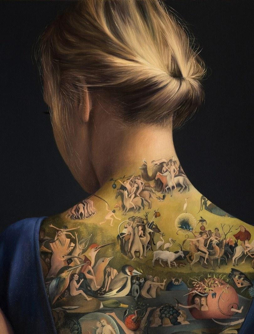 Agnieszka Nienartowicz garden of earthly delights 1 - Tatuagem de verdade ou não?