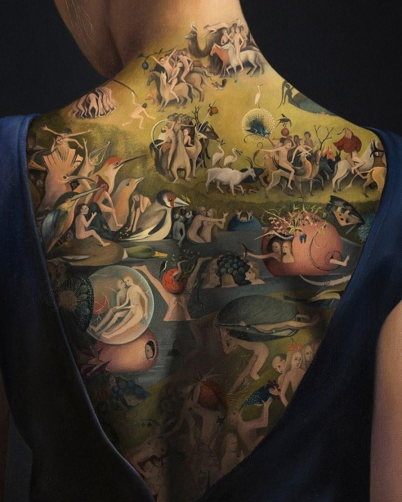 Agnieszka Nienartowicz garden of earthly delights 2 - Tatuagem de verdade ou não?