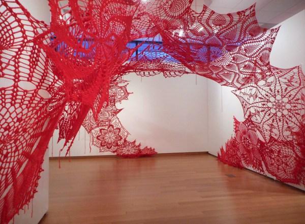 Contemporary Crochet Art Installation