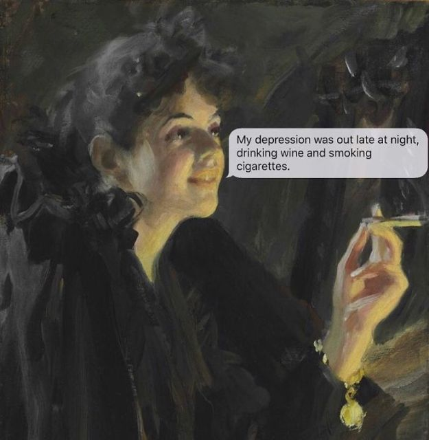5ad9cf62ddf97-classical-art-dark-humor-april-eileen-henry-texts-from-your-existentialist123-5ad6f28fb8d84__700 The Darkest Instagram Account Will Satisfy Your Inner Pessimist Random