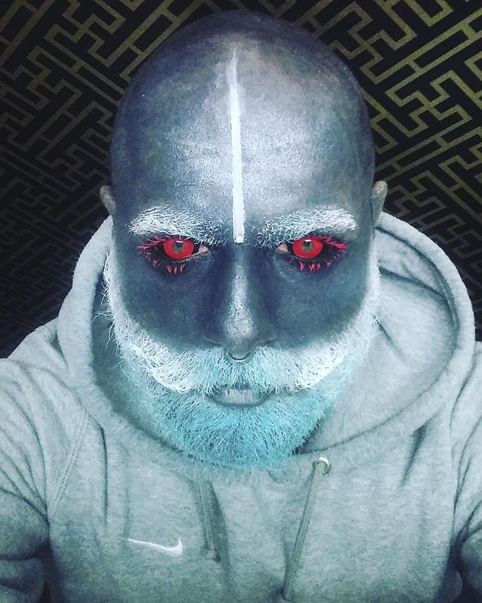 tattoo-full-body-polish-adam-curlykale-21-1 Polish Man Tattoos 90% Of His Body In Gray, Ends Up Looking Like A White Walker Random tattoo