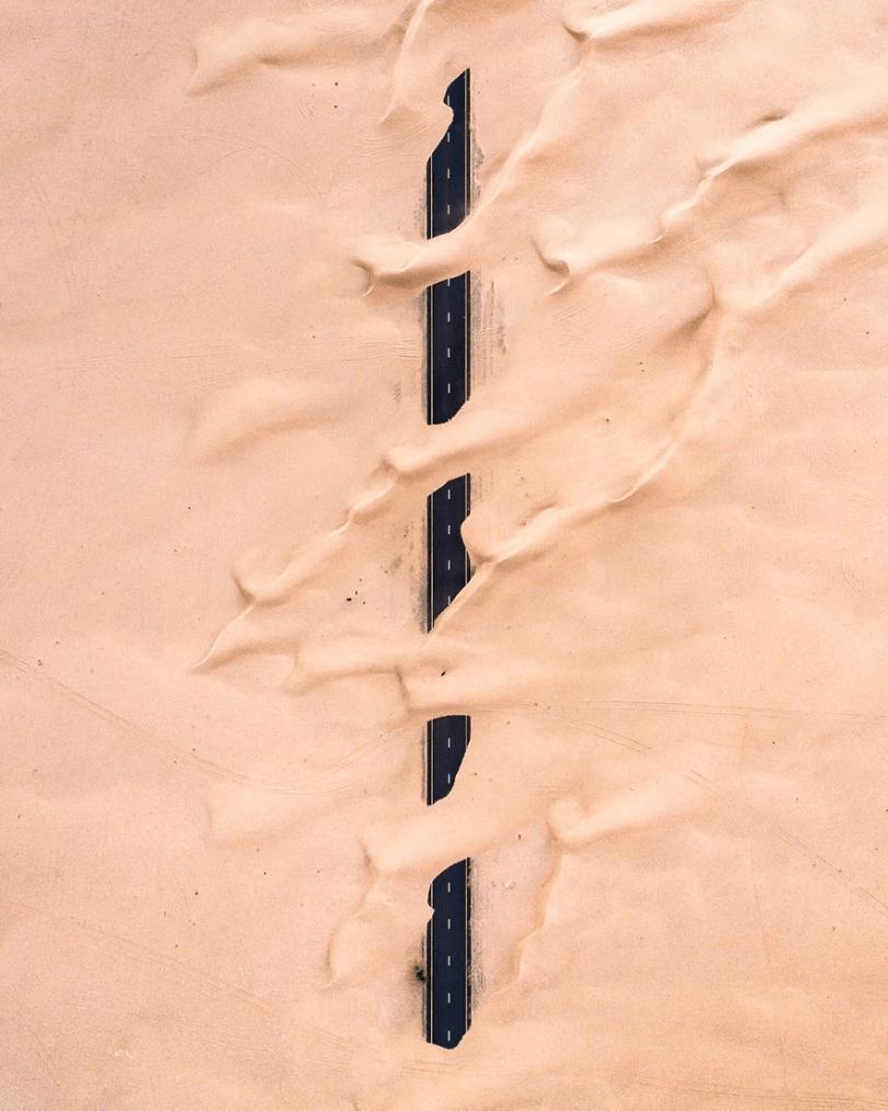 amazing desert aerial photography irenaeus herok 19 - 20 fotos aéreas impressionantes que mostram o deserto tomando conta de Dubai