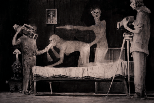 creepy-illustrations-russian-artist-vergvoktre-62 A Place Below Hell: Haunting Illustrations That Will Give You Nightmares Art Random
