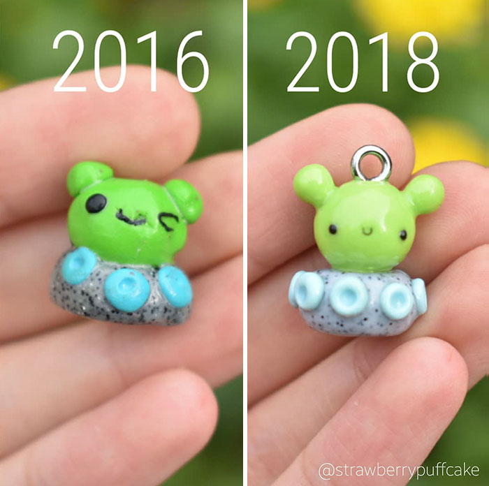 5b6d3ba5d7f1c-Clay-modeling-artist-showed-how-the-experience-made-him-evolve-and-this-progress-is-very-good-to-see-5b6aabbe6d7a8__700 This Artist Was Pleasantly Surprised How Much Her Art Evolved After She Tried Recreating Old Artwork Art Random