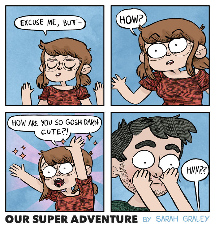 5b6d3bcd75df3-relationship-comics-boyfriend-cats-sarah-graley-illustration-5b6ae6d68415a-png__700 Artist Creates Hilarious Comics Illustrating Her Daily Adventures With Her Fiancé And Her Four Cats Random