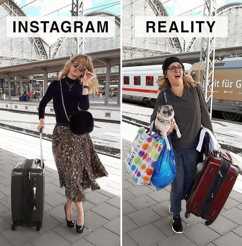 5b976d9761160 German shows the reality of perfect instagram photos and the result is a lot of fun 5b8e33e44067c  880 - Instagram: Expectativa x Realidade