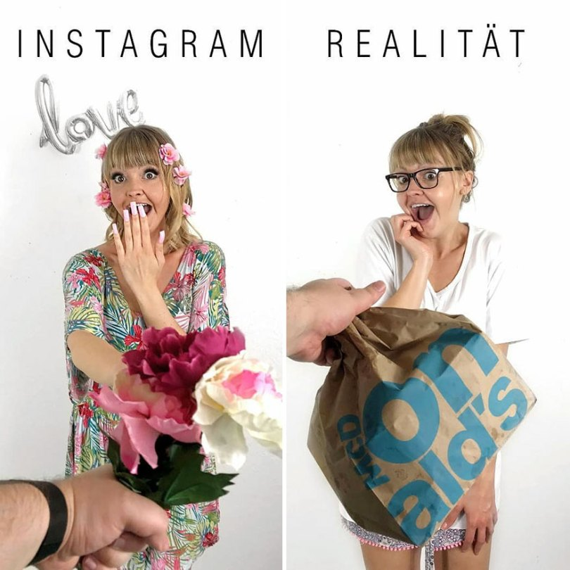 5b976d9831d02 German shows the reality of perfect instagram photos and the result is a lot of fun 5b8e33e02314e 880 - Instagram: Expectativa x Realidade