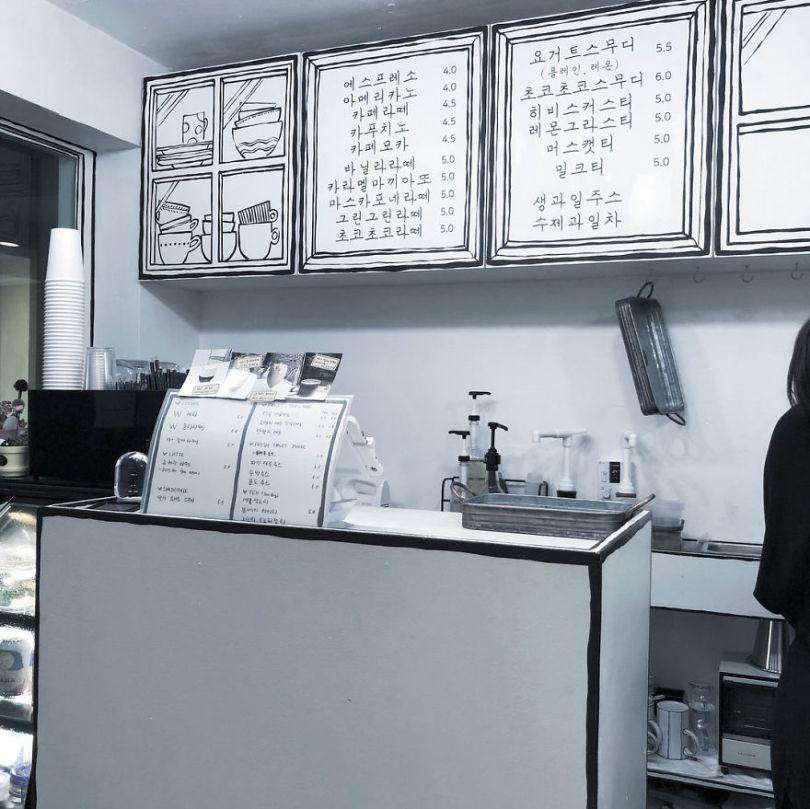 5ba8b47397ec6 In Seoul this unusual cafe makes its customers feel in a comic book 5ba4ac14d0a30  880 - Cafeteria faz o cliente se sentir como se estivesse vivendo em um desenho animado