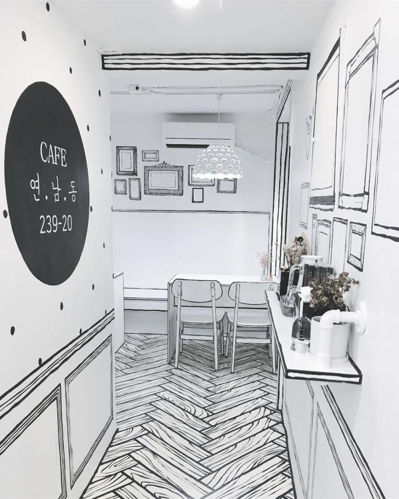 5ba8b474323ab In Seoul this unusual cafe makes its customers feel in a comic book 5ba4b228c50f6  880 - Cafeteria faz o cliente se sentir como se estivesse vivendo em um desenho animado