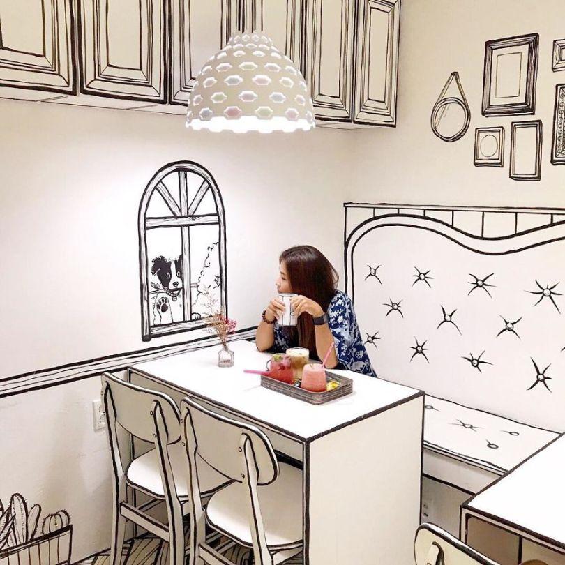 5ba8b475c0962 In Seoul this unusual cafe makes its customers feel in a comic book 5ba4aa6f1afe2  880 - Cafeteria faz o cliente se sentir como se estivesse vivendo em um desenho animado