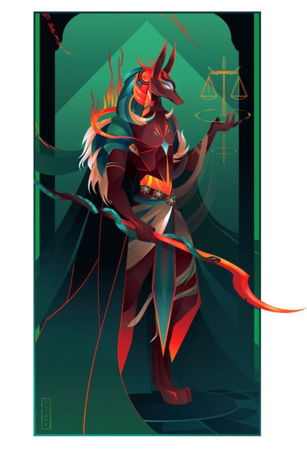 5bcf06ef6f52d-2-Anubis-II-Yliade-5bc6462d854d4__700 This French Artist Created 11 Beautiful Illustrations Of Ancient Egyptian Gods And Goddesses Random
