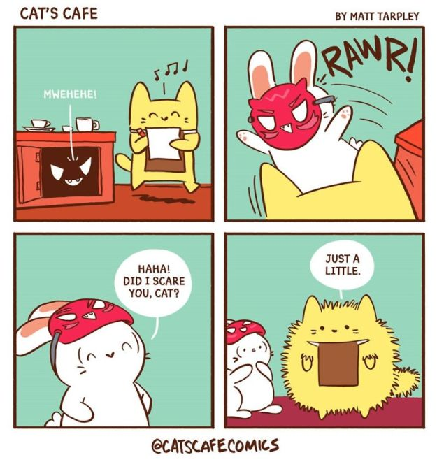 5bf6705d00965-A-Cats-Caf-for-Everyone-5bf3de6c431ed__880 47 Wholesome 'Cat's Cafe' Comics That Will Brighten Your Day Random