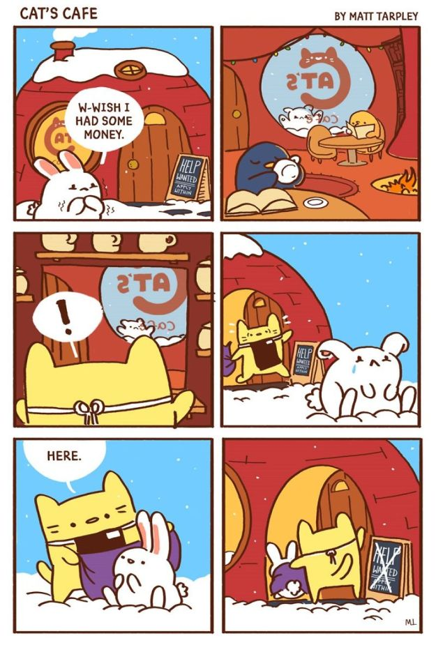 5bf6705d6dd0d-A-Cats-Caf-for-Everyone-5bf3de7eb69fc__880 47 Wholesome 'Cat's Cafe' Comics That Will Brighten Your Day Random