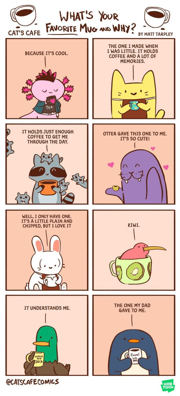 5bf6705f8ce51-A-Cats-Caf-for-Everyone-5bf3de82bac39__880 47 Wholesome 'Cat's Cafe' Comics That Will Brighten Your Day Random