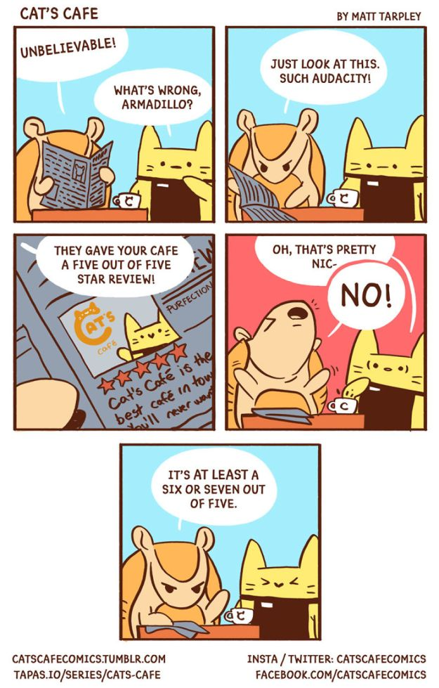 5bf6706050b3b-A-Cats-Cafe-for-Everyone-5bf2643d72187__880 47 Wholesome 'Cat's Cafe' Comics That Will Brighten Your Day Random