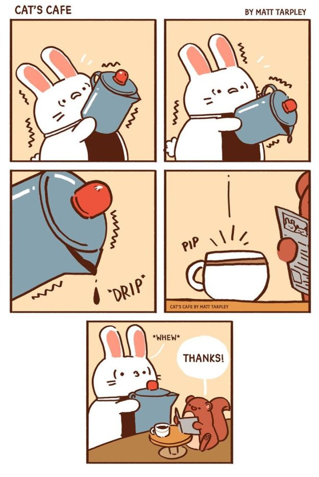 5bf67060eab44-A-Cats-Caf-for-Everyone-5bf3de6400eee__880 47 Wholesome 'Cat's Cafe' Comics That Will Brighten Your Day Random