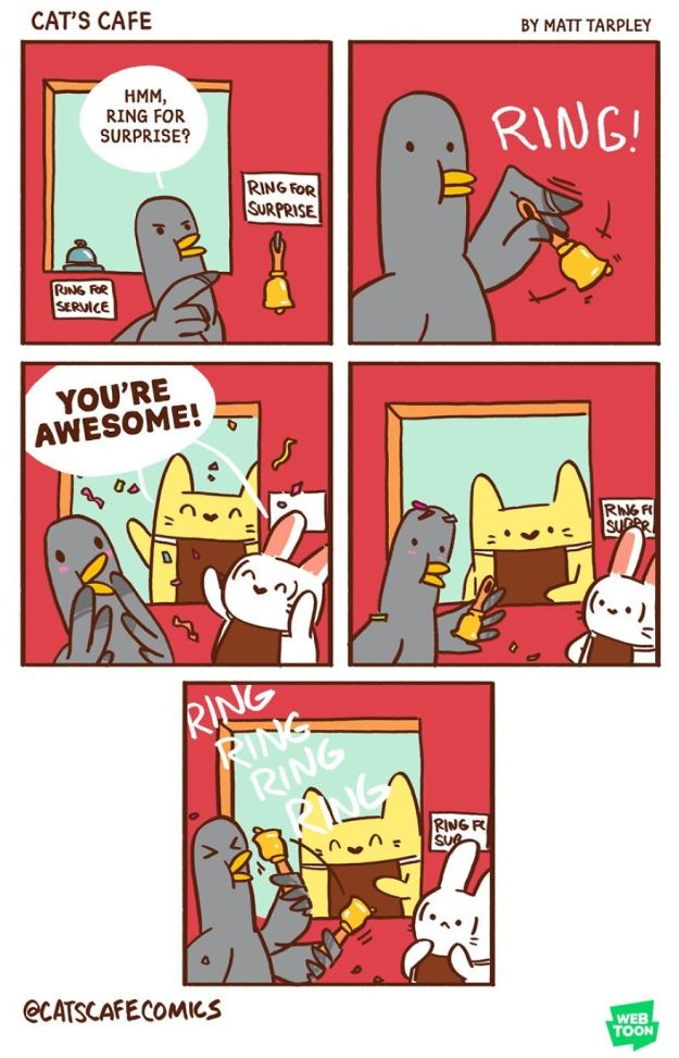 5bf6706119792-A-Cats-Caf-for-Everyone-5bf3de7ca7b24__880 47 Wholesome 'Cat's Cafe' Comics That Will Brighten Your Day Random