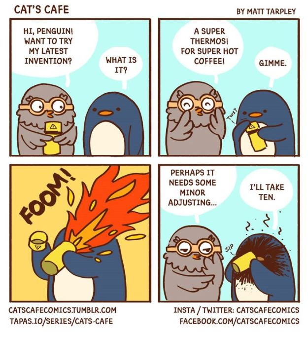 5bf67061ce85a-A-Cats-Caf-for-Everyone-5bf3de62256e3__880 47 Wholesome 'Cat's Cafe' Comics That Will Brighten Your Day Random