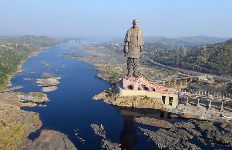 statue of unity revealed india 2 - Estátua mais alta do mundo é 6 vezes maior do que o Cristo Redentor