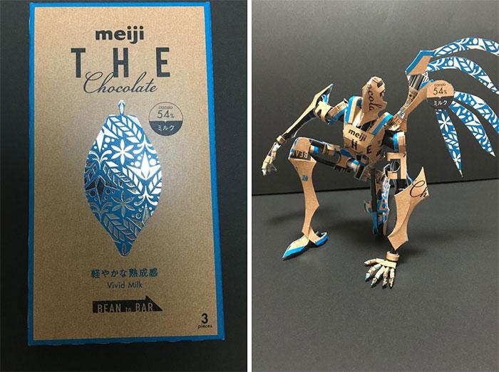 5c25de456d0c0 17 1 - Japonês transforma embalagens de alimentos em arte surpreendente