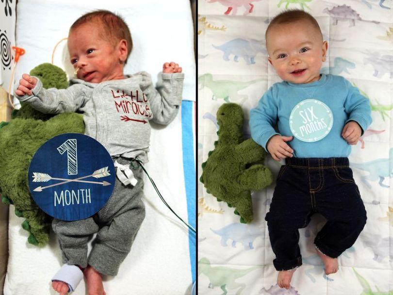 """5c497b3b9253d Ryan12 5c47564abf7c8  880 - Pai fez seu bebê prematuro fazer """"coisas de homem"""". É hilário!"""