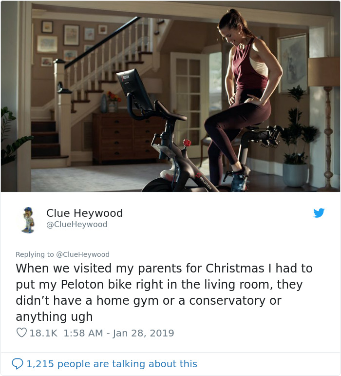 This Company Posted A Luxurious Ad For Their Stationary Bicycles And It Quickly Backfired Demilked
