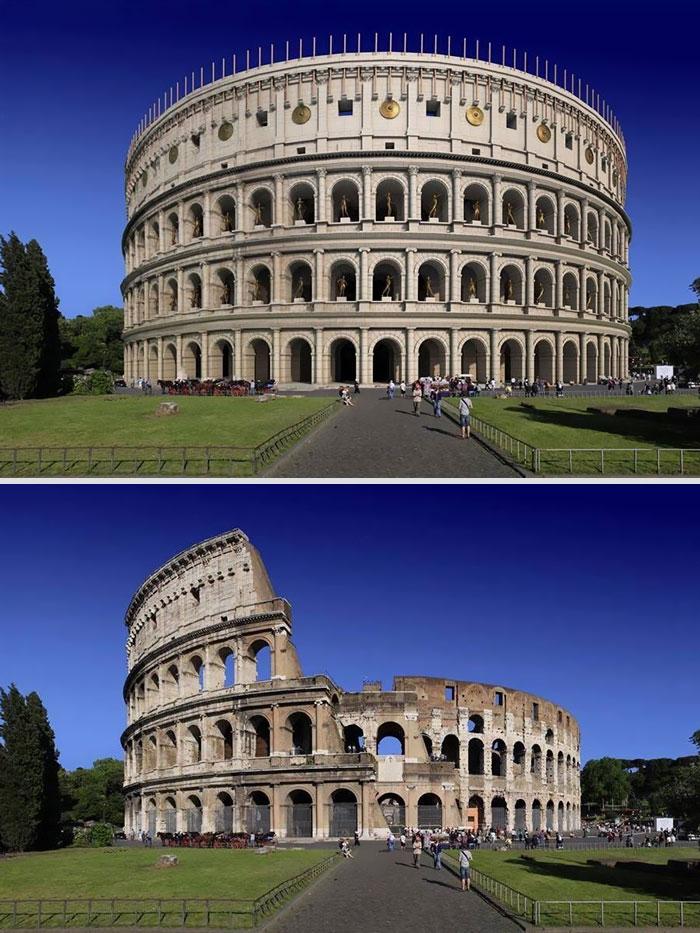 5c9c834647e25 before after roman buildings structures 5c99f41d41023  700 - 11 estruturas antigas dos romanos há 2000 anos como seria na época