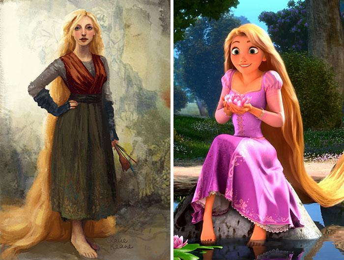 5c9c835cc1997 concept art sketches original compared disney characters 14 5c98934d08d00  700 - Personagens da Disney em comparação com sua arte conceitual original
