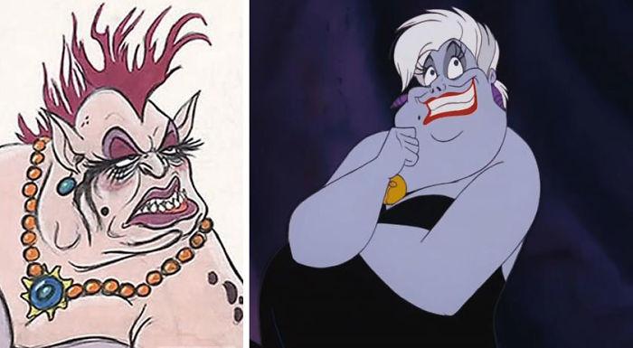5c9c835ce3b08 concept art sketches original compared disney characters 20 5c989358b1387  700 - Personagens da Disney em comparação com sua arte conceitual original