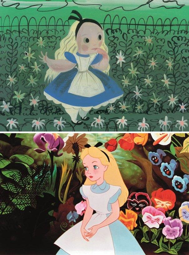 5c9c835d7f296 concept art sketches original compared disney characters 4 5c98a09b2f4ce  700 - Personagens da Disney em comparação com sua arte conceitual original