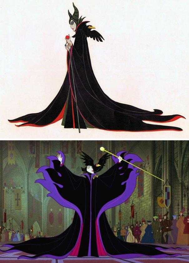 5c9c835dcbce4 concept art sketches original compared disney characters 31 5c9a0404cfbdb  700 - Personagens da Disney em comparação com sua arte conceitual original