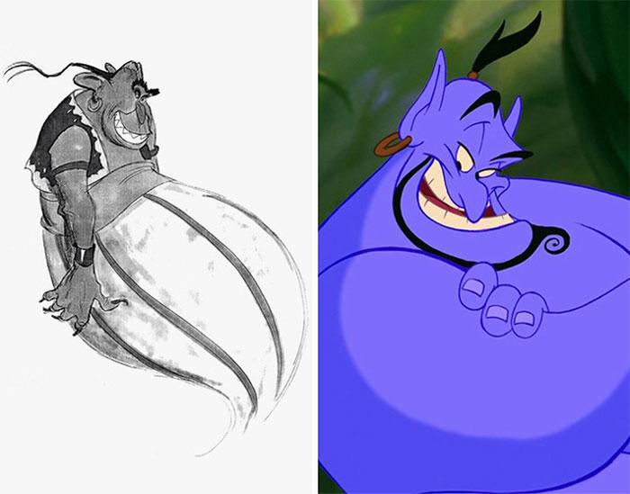 5c9c835f024a7 concept art sketches original compared disney characters 18 5c98935360b84  700 - Personagens da Disney em comparação com sua arte conceitual original
