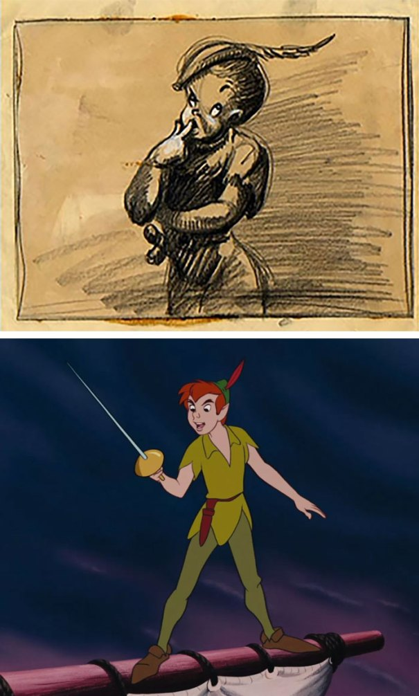 5c9c835fc4cee concept art sketches original compared disney characters 5 5c989fe77f03a  700 - Personagens da Disney em comparação com sua arte conceitual original