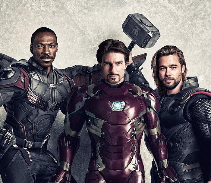 5cd28db22b153 marvel avengers movie actors 90s houseofmat 3 5cd15080e4ff4  700 - Este artista tentou imaginar como seria o elenco dos Vingadores nos anos 90