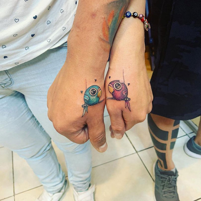5cee3cdece75a matching tattoo ideas 70 5ce54304b15ea  700 - 30 criativas tatuagens conectadas entre pessoas