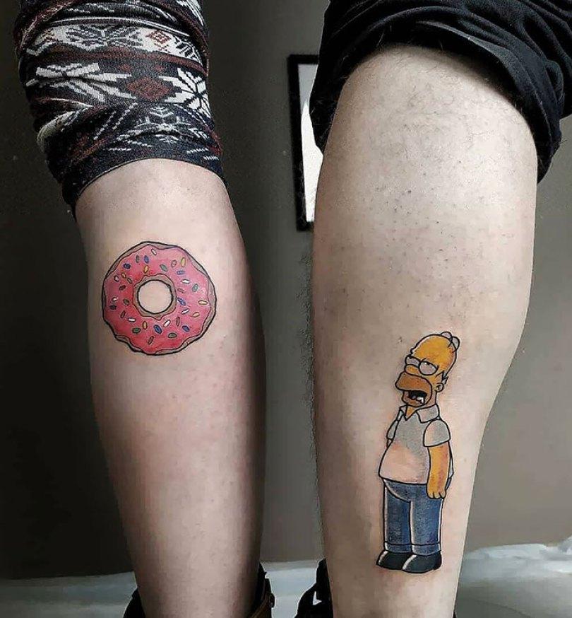 5cee3cdf0a105 matching tattoo ideas 24 5ce53eecf349b  700 - 30 criativas tatuagens conectadas entre pessoas