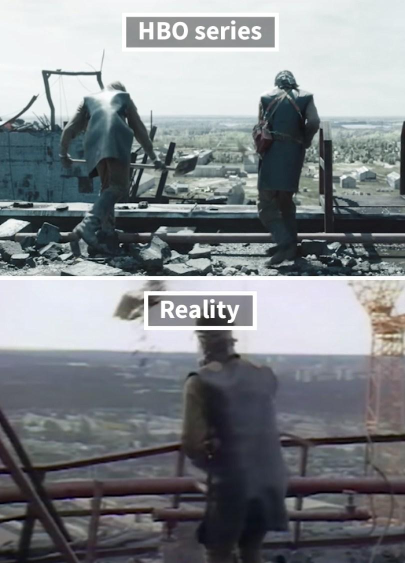 5d073e2e7b796 side by side comparison hbo chernobyl with actual footage 9 5d024370dfedf  700 - Fotos de Chernobyl da HBO em comparação a fotos reais