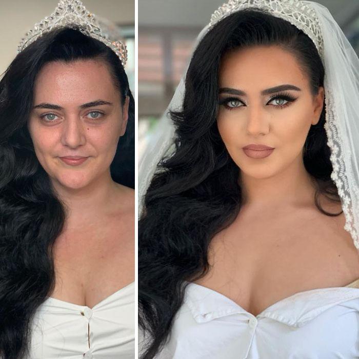5d4d3da205ad5 bride 6 5d4bd01720a81  700 - 23 lindas noivas antes e depois de sua maquiagem de Casamento